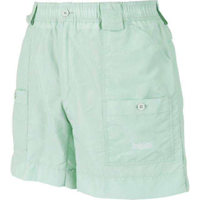 "Black AFTCO M01 Original Fishing Shorts 16/"" Length Free Shipping"