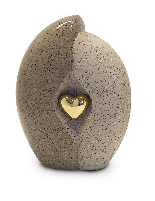 Pierre naturelle or avec cœur Motif Crémation Cendres Urne/Cercueil Urne/Cercueil Urne/Cercueil (taille moyenne) c345a8