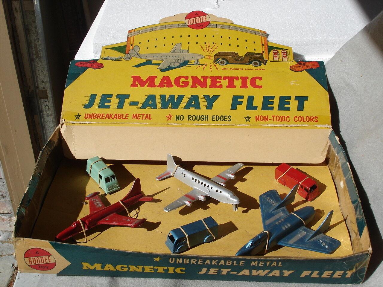 Goodee Magnétique Jet-Away flotte Affichage Avec Avions Et Vans (magnétique)