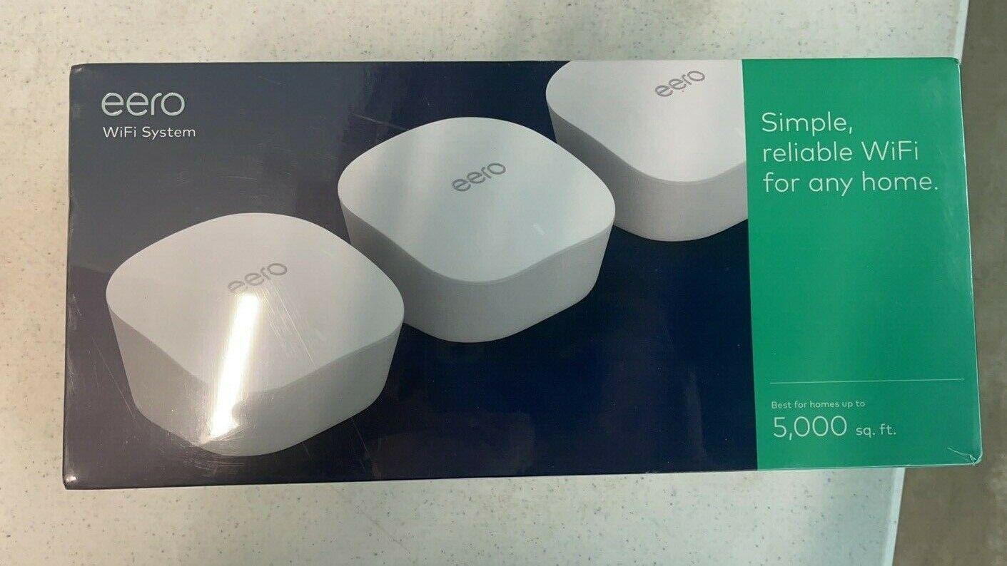 Amazon Eero Mesh wifi system 3-Pack. Buy it now for 180.00