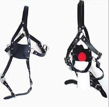 Gimp Fetish Bondage Adjustable Muzzle  Ball Gag Head Harness Slave Sub smb410