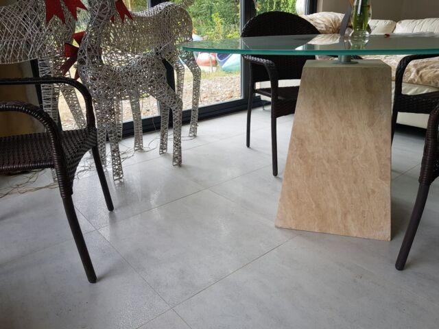 Sample M2 Vat Light Grey Lappato Porcelain Tiles 60x60 Wall Floor Ebay