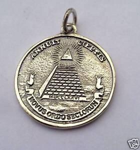 All seeing eye pyramid masonic symbols silver pendant ebay image is loading all seeing eye pyramid masonic symbols silver pendant mozeypictures Gallery