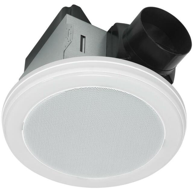 Bluetooth Stereo Speaker Decorative White 100 Cfm Bathroom Exhaust Fan Led Light For Sale Online Ebay