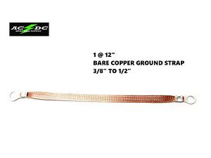 """Copper Ground//Bonding Strap Cable Multi-Purpose Universal 12/""""-13/"""" 30cm-33cm"""