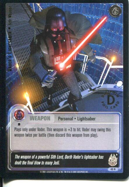 1st Day L Star Wars Jedi Knights TCG Premiere #43 Vaders Lightsaber