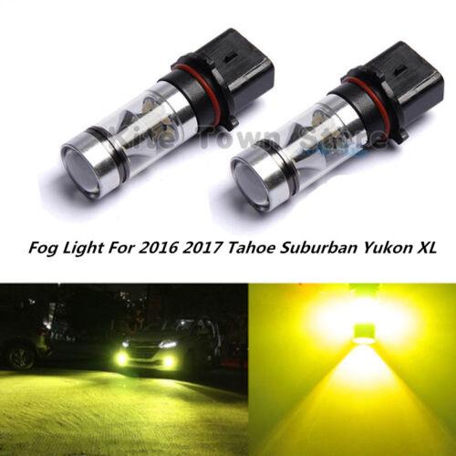 2x NEW PSX26W 100W 3000k LED Fog Light For 2016 2017 Tahoe Suburban Yukon XL US