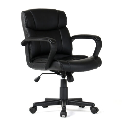 PU Leather Ergonomic Midback Executive Computer Best Desk Task Office Chair NEW