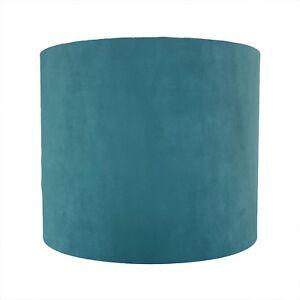 Paralume-Soft-Velluto-color-foglia-di-te-Winter-Lightshade-Blu-Verde-Bianco-Fodera