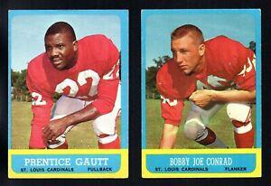 2 CARDINALS LOT 1963 TOPPS #148 BOBBY JOE CONRAD #150 ...