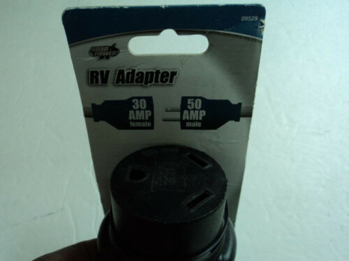 Coleman 30 Amp Female to 50 Amp Male Adapter RV Camper Converter Cord Cable