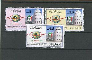 Sudan MiNr. 615-17 postfrisch MNH Fußball (X659