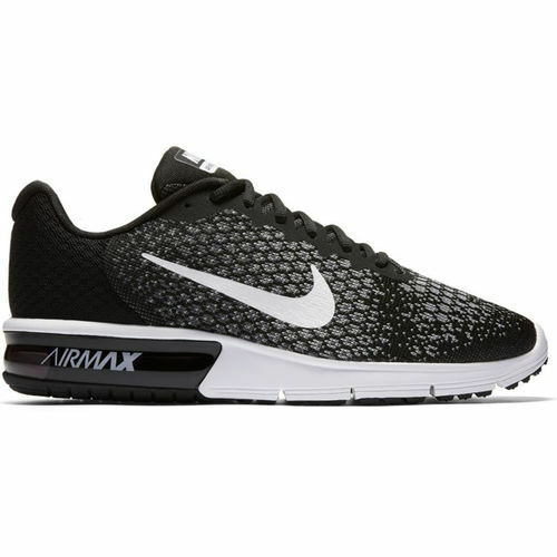 Nike- Air Max Sequent 2 Mens Black White Knit Running shoes- NWT