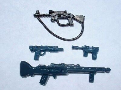 LOT Repro Hoth Rebel/&Snowtrooper Weapon Commander,Luke,Han 1980 Vintage Star War