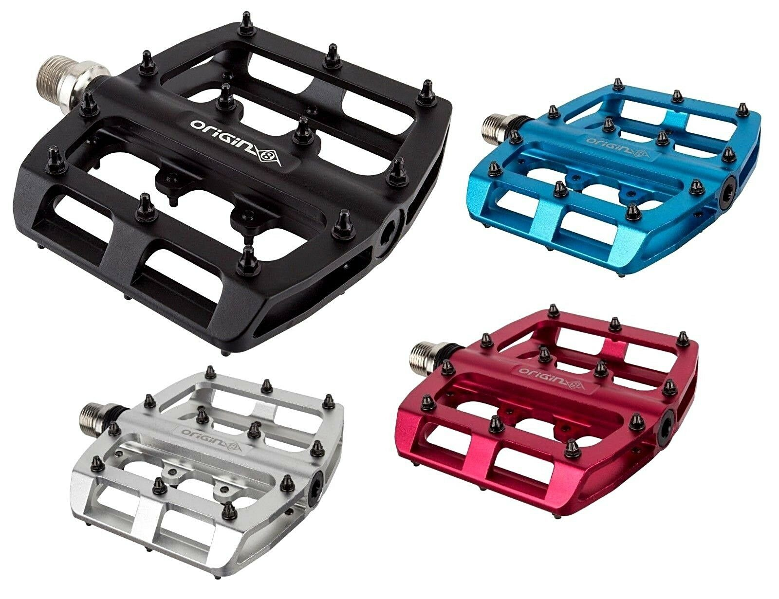 "ORIGIN8 PRO TRACK LITE ALLOY SILVER 9//16/"" BICYCLE PEDALS"