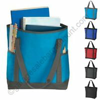 Sturdy Zip Tote Bag Book Shopper Teacher Nurse Purse Handbag Gym Diaper Beach