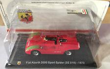 """DIE CAST """"FIAT ABARTH 2000 SPORT SPIDER (SE 019) - 1970"""" + BOX 2 SCALA 1/43"""