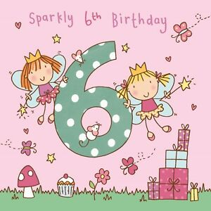 6 Year Old Card Age 6 Card 6th Birthday Card For Girl Girl Age 6