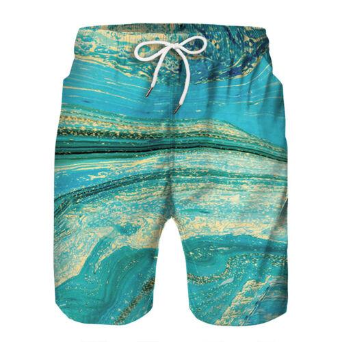 Men Beachwear Swiming Trunks Drawstring Surfing Shorts Swimwear Boxer Bottoms