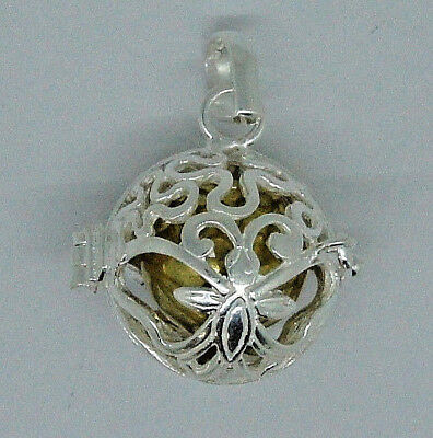 BALI HARMONY BALL MUSIC CHIME Bottle PENDANT IN STERLING 925 SILVER  #I11