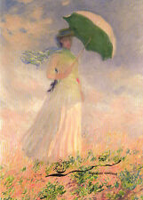 Kunstpostkarte - Claude Monet:  Woman with a parasol turned to the right