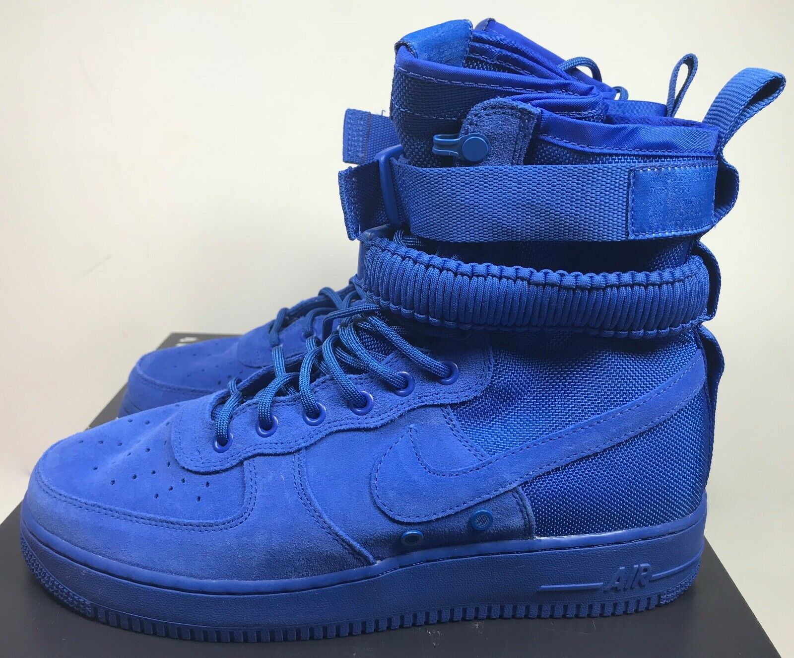 2e0f734cacf6f Nike SF Af1 Air Force 1 864024-401 Blue Suede Game Royal DS Size 11 for  sale online | eBay