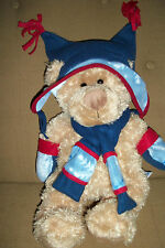 Hugafun Int'l Bear with Snowflake Scarf, hat and mittens