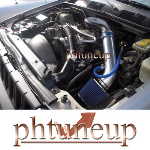 BLUE 1993-1998 JEEP GRAND CHEROKEE 5.2L 5.9L V8 AIR INTAKE KIT INDUCTION SYSTEMS