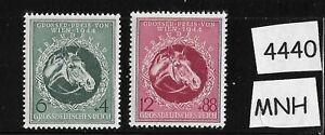 MNH-stamp-set-1944-Third-Reich-Vienna-Austria-Gran-Prix-Horse-Race-Germany