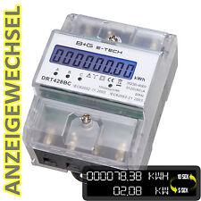 digitaler Wattmeter Stromzähler S0 Hutschiene 400V 3x20(80)A mit Anzeigewechsel