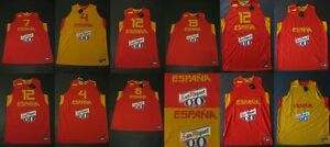reputable site a074c 62369 Image is loading Nike-Espana-Baloncesto-Camiseta-Spain-Basketball -Jersey-Shirt-