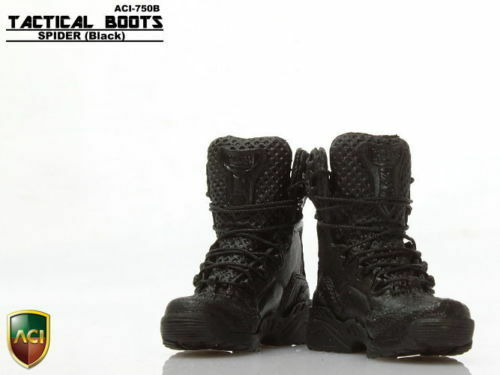 "1//6 Scale Black Desert Boots ACI 750 Shoes Model  For 12/"" Male Figures"