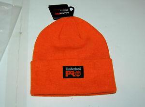 7ada8d75 NWT Timberland PRO mens Pro Orange Rib Knit Watch beanie One Size | eBay