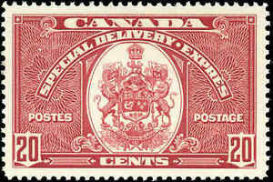 Mint-NH-Canada-20c-F-VF-1935-Scott-E8-Special-Delivery-Stamp
