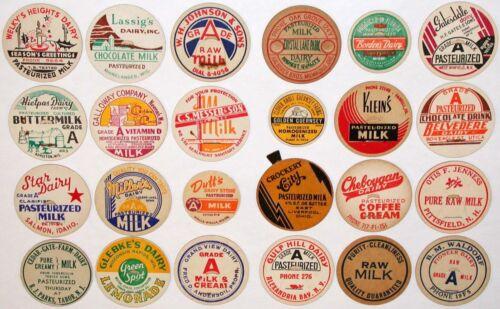 Vintage milk bottle caps LOT OF 24 DIFFERENT originals #8 unused new old stock