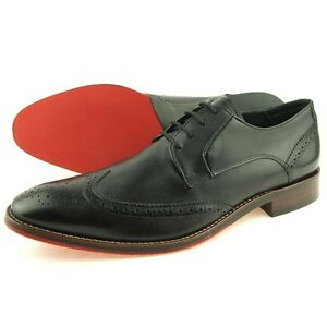 Ferracini Casual Wingtip Leather Oxford, Men's Shoes, Black 7-13US