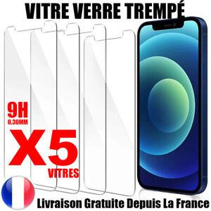 Vitre protection VERRE TREMPÉ film protecteur écran iPhone 6/S/7/8/XS/11 12 PRO