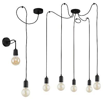 Vintage Retro Loft Deckenlampe Hängelampe Pendelleuchte Industrie Design Schwarz Gut FüR Energie Und Die Milz