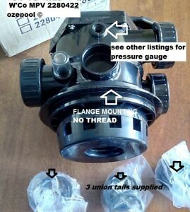 Waterco-CLAMP-ON-FLANGE-Multiport-Valve-40mm-Pool-Sand-Filter-2280422-COMPLETE