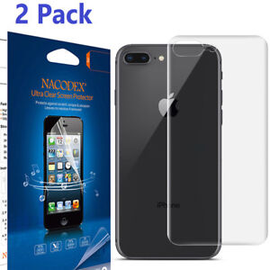 2PK-No-Glass-Back-Full-Cover-No-Foam-Screen-Protector-For-iPhone-8-Plus