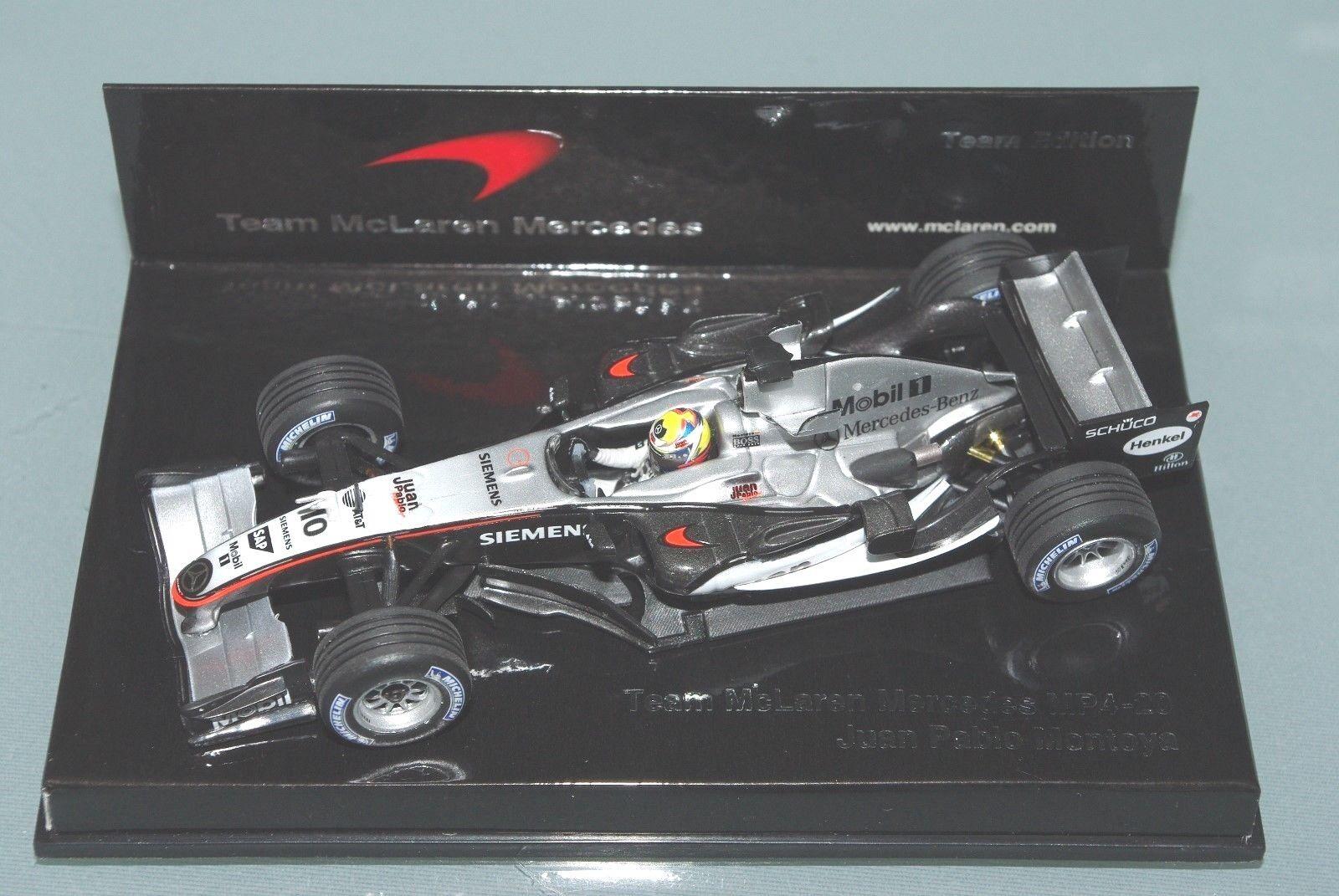 Minichamps F1 1 43 McLAREN MERCEDES MP4-20 - Jaun Pablo Montoya-Team Edition