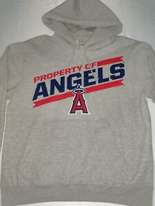 093acaaff Los Angeles Angels of Anaheim Mens Medium Gray Graphic Hoodie EUC