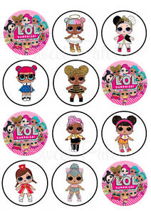 LOL Dolls Cupcake Toppers | Icing/Wafer Paper | Edible ...