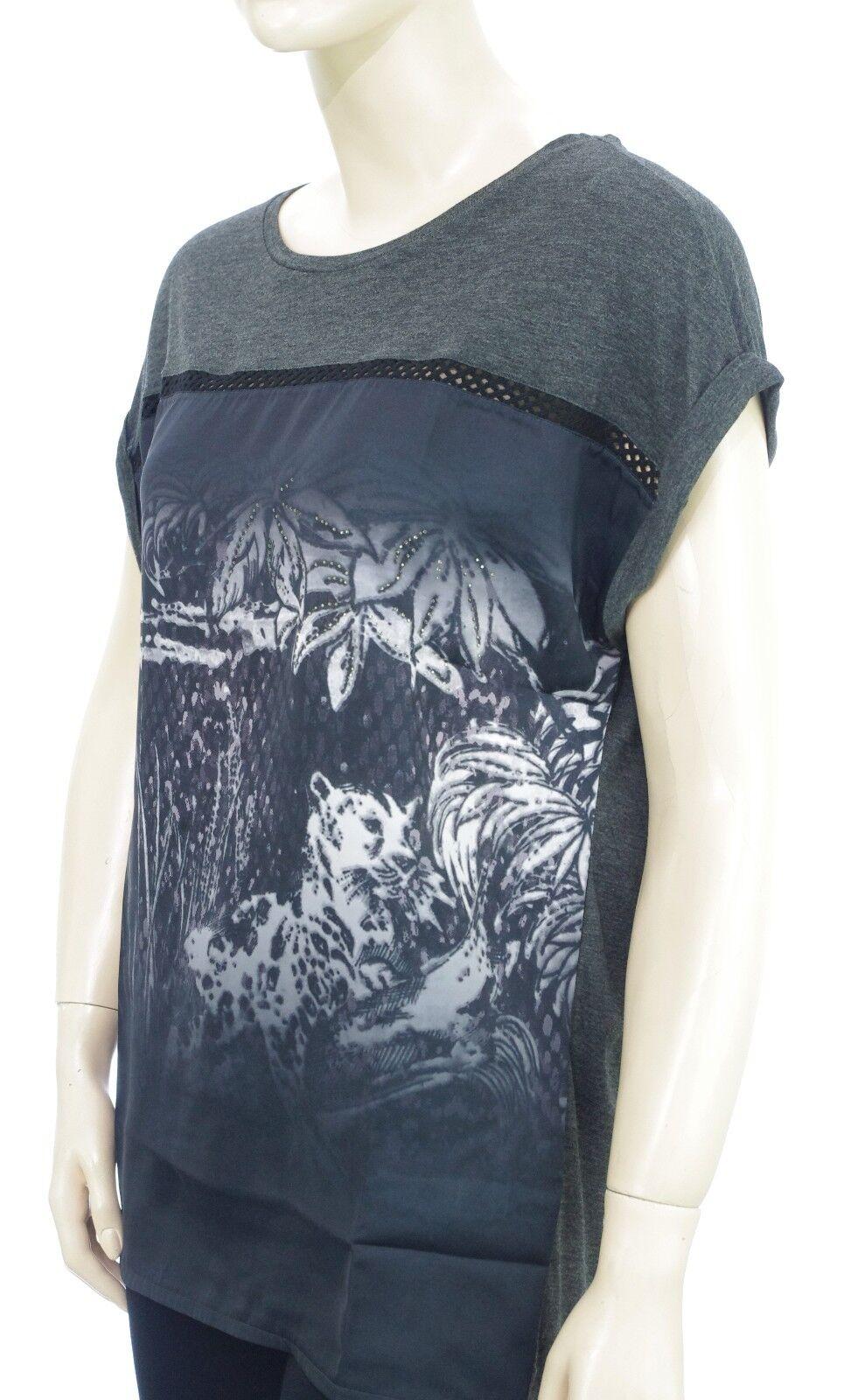 ac626caba68 Tee Shirt oversized DESIGUAL femme forme large. TS LEOPARD DEGRADE