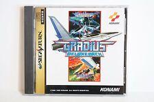 Gradius Deluxe Pack I II 1 & 2 Shooter Sega Saturn SS Japan Import US Seller