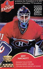 2000-01 MONTREAL CANADIENS HOCKEY POCKET SCHEDULE -FRENCH & ENGLISH JEFF HACKETT