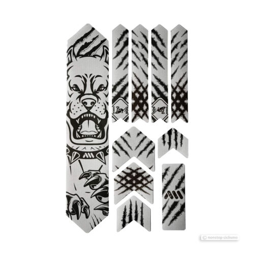 All Mountain Style HONEYCOMB MTB Frame Guard Protection Stickers PITBULL//BLK XL