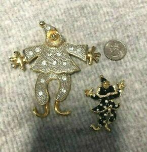 Clown,Gold Clown Brooch enameled brooch,multicolored brooch Brushed Gold Vintage Brooch Gold Clown Pin