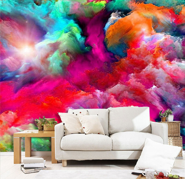 3D Farbeful clouds 245 Wall Paper Wall Print Decal Wall Deco Indoor Wall Murals
