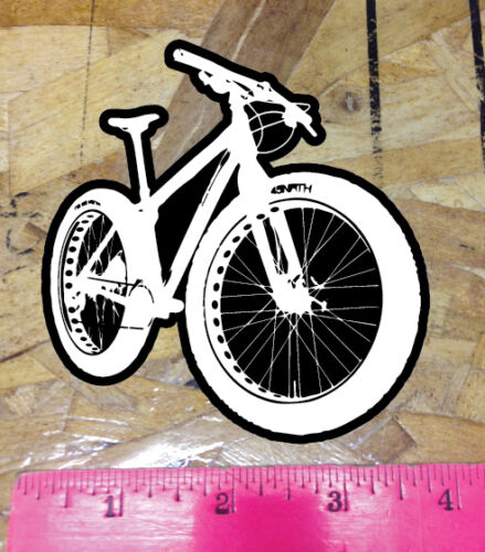 Fatbike Decal Window Sticker Mountain Bike Fat Snow Sand 4/""